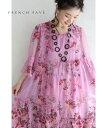 (S~L対応)【再入荷♪6月10日12時&20時より】「FRENCH PAVE」豪華に施した花刺繍。ベールミディアムワンピース