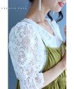 (M対応)【再入荷♪7月22日12時&20時より】「FRENCH PAVE」贅沢に施した白花刺繍のオーガンジーブラウストップス