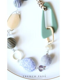 (グリーン)「CAWAII」色んなカタチを集めたコレクションストーンネックレス