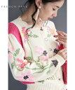 (S~M対応)クロスステッチ刺繍の花ニットカーディガン