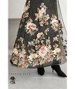 ☆☆【再入荷♪12/4 12時&20時】ひらりと舞う高級感。美しい和の花刺繍ロングワンピース