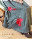 【再入荷♪4月12日12時&22時より】「mori」鮮やかに咲く花刺繍スカート
