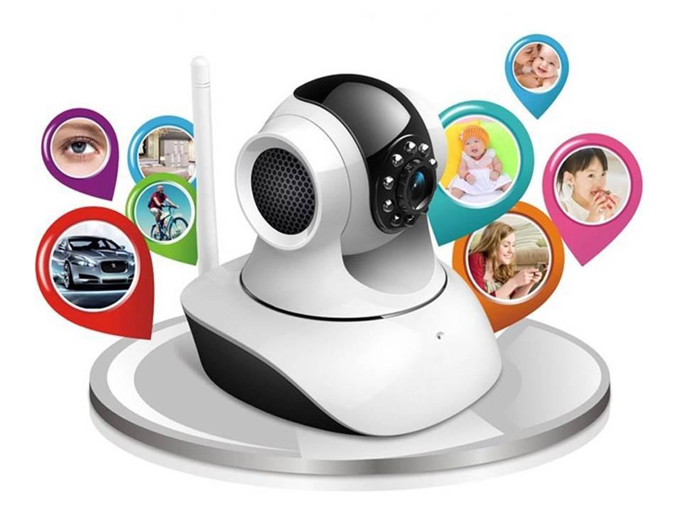 IPカメラ 暗視対応・遠隔操作可能!ネットワークカメラ 監視カメラ ホワイト