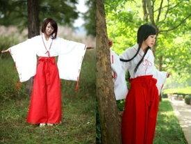 巫女 コスプレ 衣装 コスチューム 袴 ズボン タイプ 犬夜叉 桔梗 女性