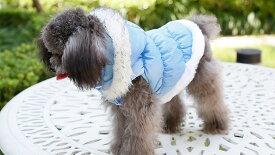 メール便送料無料 フード付ダウンベスト 犬 服 冬用 フード取外し可能 ジャケット コート 防寒