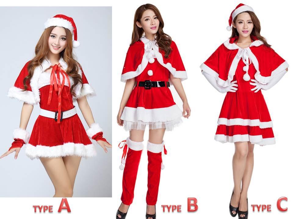 クリスマス サンタ コスチューム ケープ フード付 セクシーサンタ コスプレ ワンピース セット 衣装
