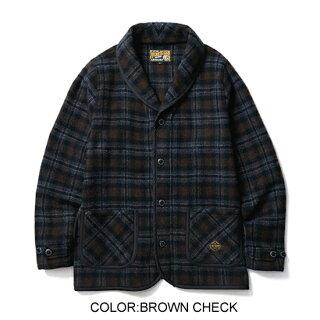 CLUCT/クラクトCHECKSHAWLJACKET【ショールジャケット】【送料無料】【CLUCT】