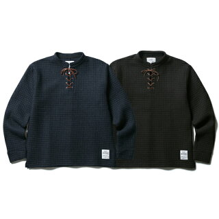 CLUCT/クラクトLACEUPWOOLPULLOVER【ニットソー】
