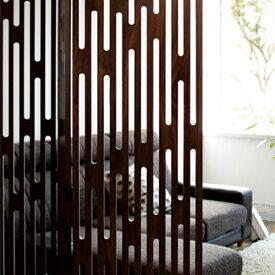 【送料無料】 4連 パーテーション パーティション パーテイション 衝立 ついたて ウォールナット 素敵 きれい キレイ 綺麗 目立つ ワンポイント ワンアクセント 間仕切り 仕切板 突っ張り パネル 間仕切り 家具 和風 障子 和