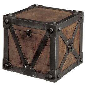 【10%OFF/送料無料】 収納BOX トランク 収納箱 収納 BOX 木製 宝箱 インテリア ヴィンテージ アンティーク 古着 USA 収納ボックス キッズルーム おもちゃ箱 トイボックス レトロ 海賊 おしゃれ 子ども オブジェ スツール 可