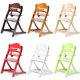 【送料無料】 ハイチェア テーブル&ガード付(NA/LB/DB/YG/WH/RD) 腰が据わった7か月頃〜大人まで使えるグロウチェア/ベビーチェア/ダイニングチェア/キッズ家具/子供用椅子/テーブルチェア 離乳食時に便利なテーブル付