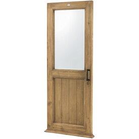 【送料無料】ミラー S字フック付き 鏡 かがみ ビンテージ/レトロ/フレンチ/カントリー/ナチュラル/北欧/アンティーク/シンプル 幅65cm 奥行き10cm 高さ161cm 飛散防止 天然木 杉 ウッド 木製 木フレーム