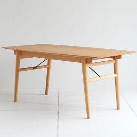 【送料無料】160 ダイニングテーブル 食卓テーブル 4人用 幅160cm 奥行き85cm 高さ72cm オーク材 無垢 ウレタン塗装 作業テーブルやミーティングテーブルにも◎ ナチュラル/シンプル/北欧/カントリー/フレンチ