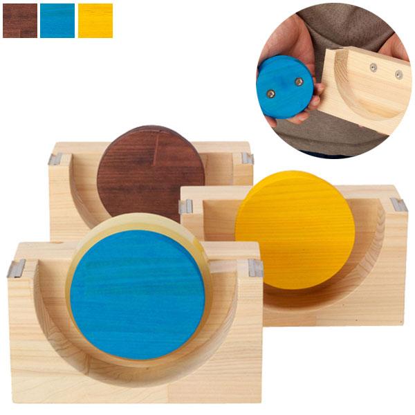 【送料無料】テープカッター (YE/BL/BR) 木製 日本製 味気なくなりがちなオフィス用品に遊び心と木のぬくもりを♪ 天然木を使った自然の風合い豊かなテープカッターです! オフィスでもご家庭でも。贈り物にも! 文具 事務用品 書斎 デスク 机 プレゼント おしゃれ