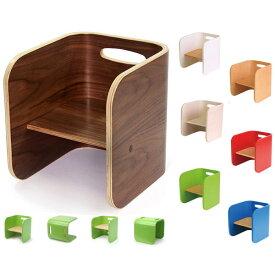 【送料無料】 キッズチェアー(NA/BWN/WH/RD/GR/BL/IV) イス 椅子 木製 ビーチ材 ウォルナット材