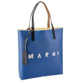 マルニ MARNI 2020年秋冬新作 ロゴ トートバッグ PVCショッピングバッグ ブルー系 SHMPQ10A06 P3660 LOB56