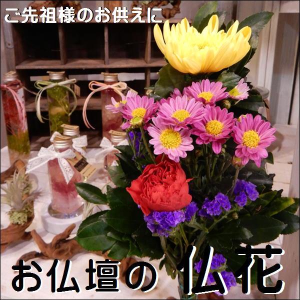 仏花(通常仏花)仏壇のお花 常時仏壇にお供え下さい。五分咲きでお届けご先祖様へのお花和風の伝統でご先祖様へのお供えに 仏壇 仏様やお盆などにアレンジ、仏壇、花束、切り花、御供え