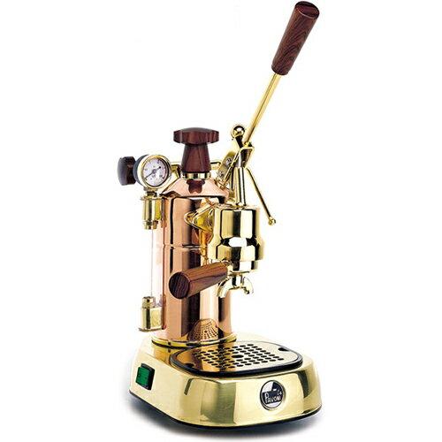 【長期保証付】ラ・パボーニ PRG(ゴールド・18金メッキ) エスプレッソコーヒーマシン プロフェッショナル 銅&真鍮&ウッド