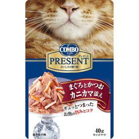 日本ペットフード コンボ キャット プレゼント まぐろとかつお カニカマ添え40g