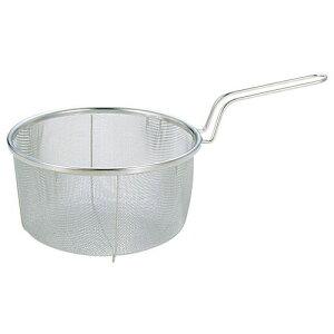新越ワークス スリースノー ステンレス ボイルバスケット 24cm