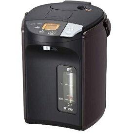 タイガー魔法瓶 TIGER PIS-A220-T(ブラウン) とく子さん 蒸気レス VE電気まほうびん 2.2L PISA220