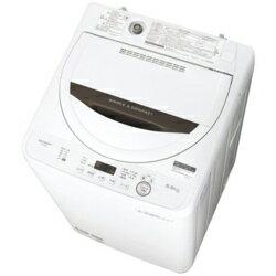 シャープ SHARP ES-GE5B-T(ブラウン) 全自動洗濯機 上開き 洗濯5.5kg ESGE5BT