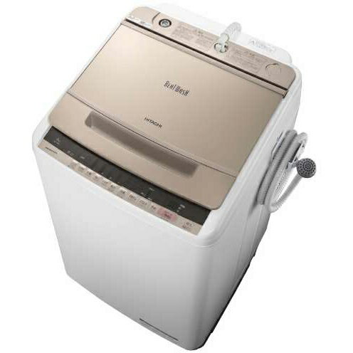 【長期保証付】日立 HITACHI BW-V80C-N(シャンパン) ビートウォッシュ 全自動洗濯機 上開き 洗濯8kg BWV80CN
