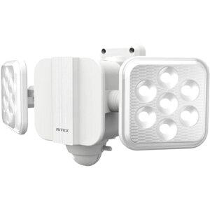 ムサシ LED-270 5W×2灯 フリーアーム式LED乾電池センサーライト