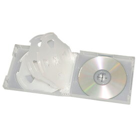 CD&DVD ソフトケース 10枚収納 クリア