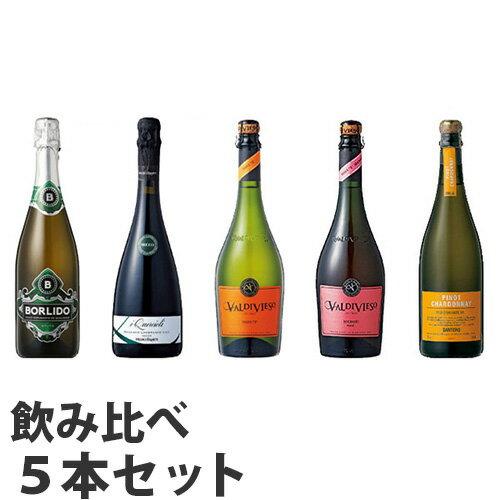 スパークリングワイン 5本セット【送料無料(一部地域除く)】