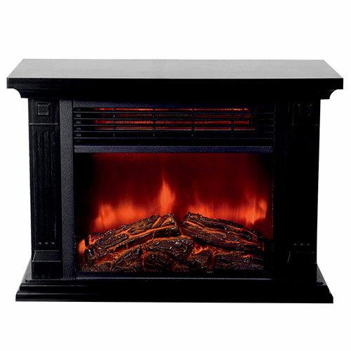 ヒロコーポレーション 暖炉型ファンヒーター HD-100BK ブラック 【送料無料(一部地域除く)】