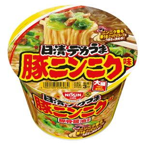 『賞味期限:21.04.06』 日清食品 デカうま 豚ニンニク味 111g×12個