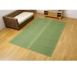 い草花ござカーペット『DXクルー』グリーン本間6畳(約286.5×382cm)