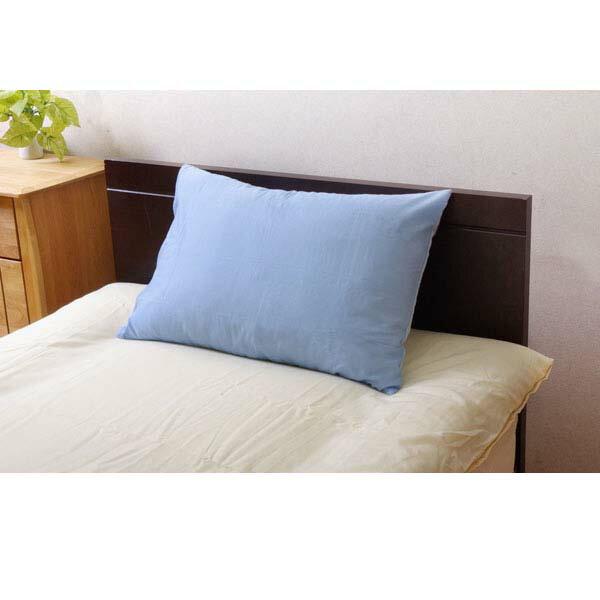 【売切れ御免】リバーシブル リバ枕カバー63IT ブルー/ライトブルー 9803060 43×63cm[カバー 敷きカバー 掛けカバー 寝具 家具]