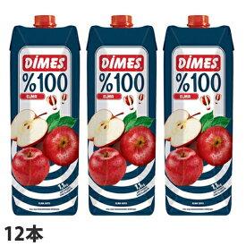 ディメス アップルジュース 果汁100%(濃縮還元) 1L×12本