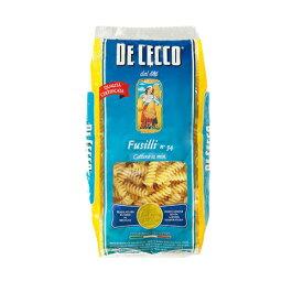 『お一人様3袋限り』ディチェコ No.34 ショートパスタ フズィリ 500g / DE CECCO