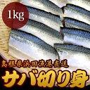 島根県浜田漁港直送 サバ切り身 1kg【代引不可】