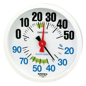 【取寄品】エンペックス 温湿度計 ルシード TM-2671K ホワイト
