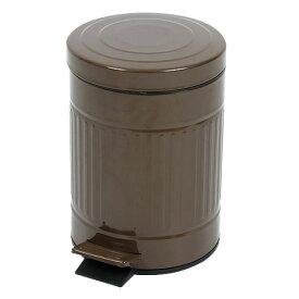 フットペダル式ゴミ箱 CUBO(キューボ) ブラウン 容量5L【代引不可】