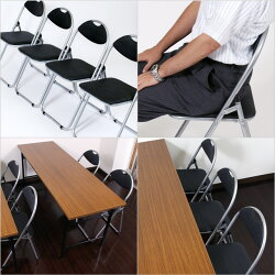 KILAT折りたたみパイプ椅子4脚セット