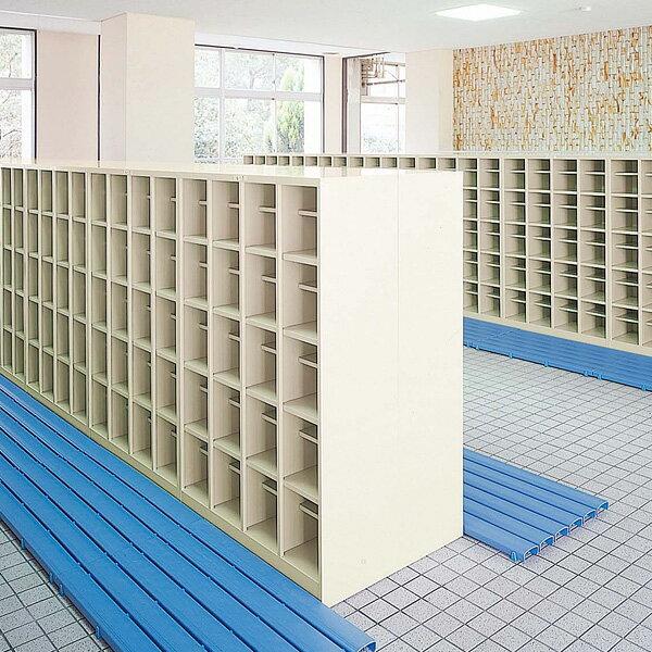 生興 オープンシューズボックス(D350) ニューグレー色 4列5段20人用(中棚なし) W1000×D350×H1450 SBN-20N【代引不可】【送料無料(一部地域除く)】