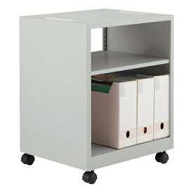 ライオン事務器 デスクアンダーラック ビジネスデスク EDシリーズ W500×D400×H610mm ライトグレー ED-N540UD 679-64【代引不可】【送料無料(一部地域除く)】