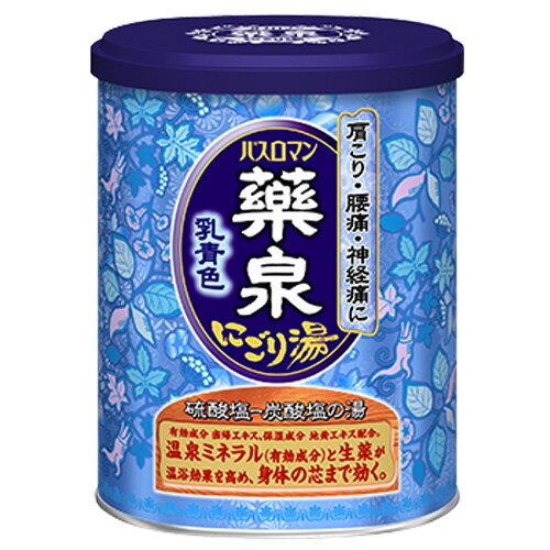 アース製薬 薬泉バスロマン にごり湯 乳青色 650g