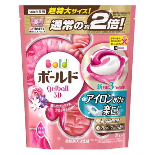 P&G ボールド ジェルボール3D 癒しのプレミアムブロッサムの香り 詰替 超特大サイズ