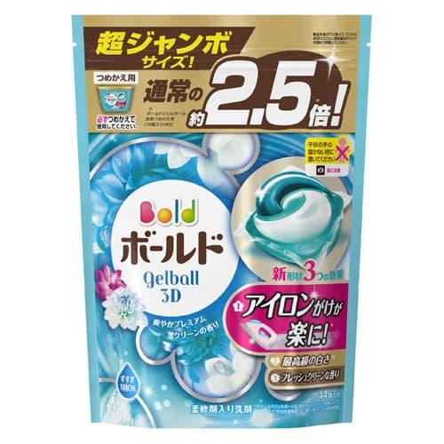 P&G ボールド ジェルボール3D 爽やかプレミアムクリーンの香り 詰替 超ジャンボサイズ