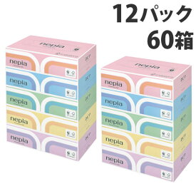 ネピア プレミアムソフトティッシュ 180組 5箱×12パック【送料無料(一部地域除く)】