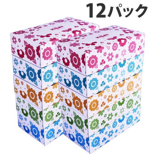 【日本製】ボックスティッシュ 150組(150W) 12パック(60箱)【送料無料(一部地域除く)】