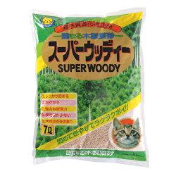 固まる木製猫砂スーパーウッディー7L