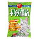 『今だけ特価』『超定番』常陸化工 トイレに流せる木製猫砂 ひのき入 6L
