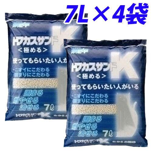 最安値挑戦猫砂 ペグテック トフカスサンドK 7L 4袋
